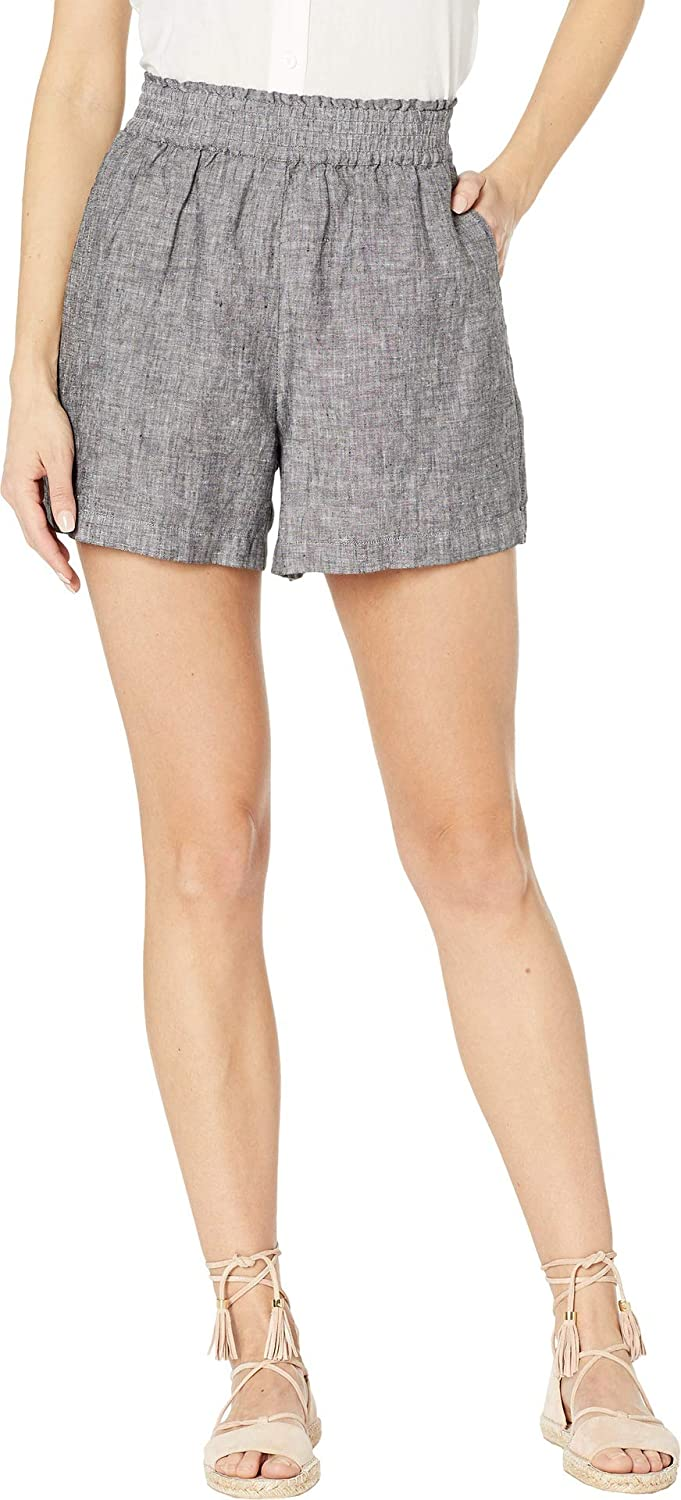 Two by Vince Camuto Women's Cross Dye Linen TwoPocket Shorts