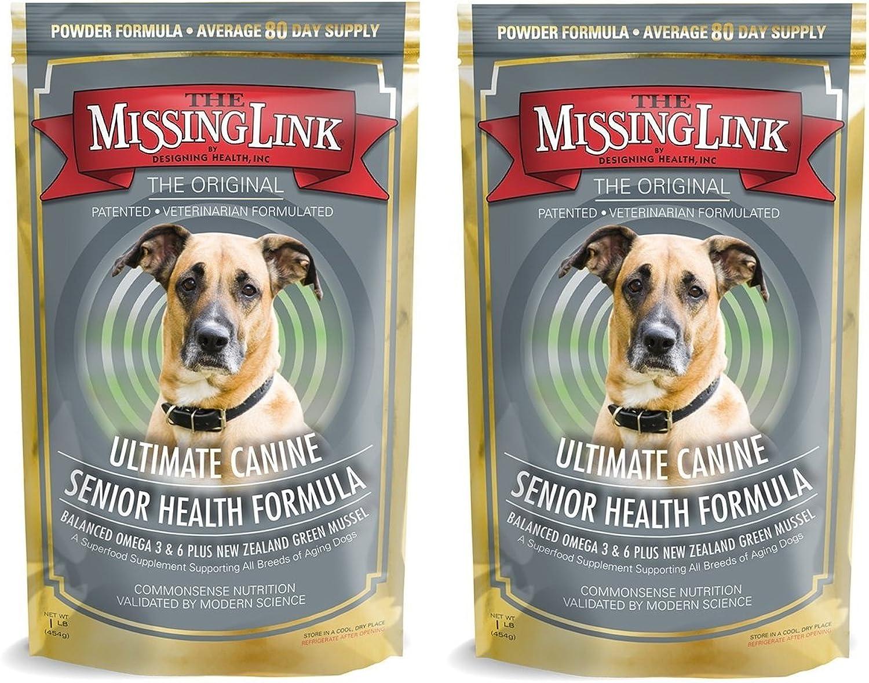 2 Pack Missing Link 1 lb Ultimate Canine Senior Health Formula  Dog Food  Health Food Supplement  Senior Dog Food  for Dogs