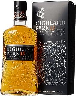 Highland Park 12 Jahre Viking Honour Single Malt Scotch Whisky 1 x 0.7 l – vollmundiger, rauchiger Geschmack, der Whisky mit der Wikinger-Seele