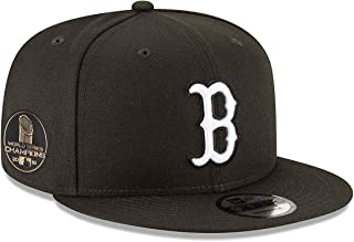 New Era Boston Red Sox 2018 World Series Champions Side Patch White on Black Snapback Adjustable Hat