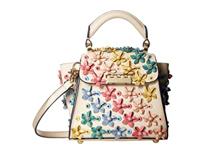 ZAC Zac Posen Eartha Kit Mini Top-Handle (Ivory Rainbow) Handbags