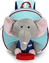 حقائب ظهر كرتونية للأطفال من سن 1-3 سنوات من عمر 1 إلى 3 سنوات، حقيبة ظهر لجام أمان مع ألعاب الفيل القطيفة لرياض الأطفال