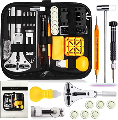 Watch Repair Kit, Watch Case Opener Spring Bar Tools, Watch Battery Replacement Tool Kit, Watch Band Link Pin Tool Se...