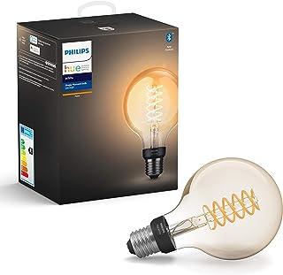 Philips Hue Filament Lamp 1-Pack - E27 - Vintage Globevorm G93 - Duurzame LED Verlichting - Warmwit Licht - Dimbaar - Verb...