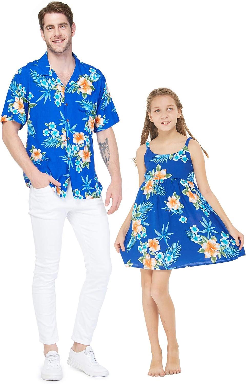 Matching Father Daughter Hawaiian Luau Dance Shirt Dress Various Patterns