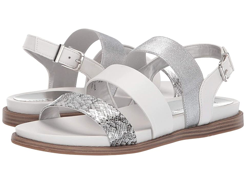 Anne Klein Essence Flat Sandal (White) Women