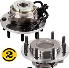 2WD Front Wheel Bearing Hub Assembly Fit 1999 2000 2001 2002 2003 2004 Ford F-250 F-350 F-450 F-550 Super Duty Hub Bearing(2 Pack) 8 Lugs, w/ABS RWD, Replace 515100