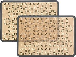 Tapis De Cuisson Non Stick Silicone Pâte Macaron Plateau Four Cuisson Fondant Pâtisserie Moule Feuille Tapis Tapis 2PCS