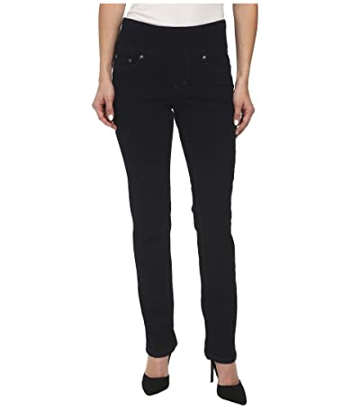 Jag Jeans Petite Peri Pull-On Denim Straight Leg Jeans (After Midnight) Women