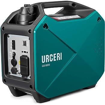 URCERI インバーター発電機 1500W PSE認証 正弦波 AC出力 DC出力 3.4時間連続運転 50Hz 60H切替 過負荷保護 地震 災害 停電 小型 家庭用 アウトドアに適用 日本語取扱説明書付き 一年保証