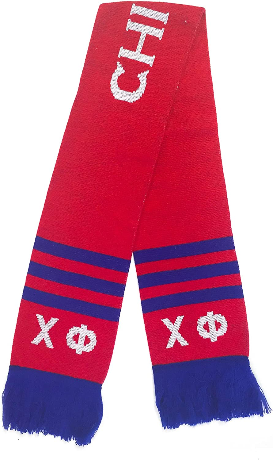Chi Phi Fraternity Letter Winter Scarf Greek Cold Weather Winter