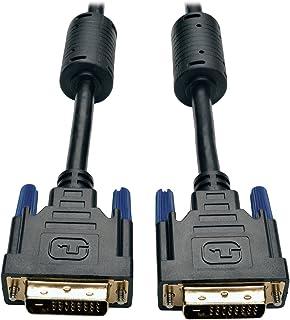 Tripp Lite DVI Dual Link Cable, Digital TMDS Monitor Cable (DVI-D M/M) 1-ft.(P560-001),Black