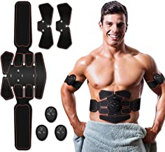 Abs Stimulator, Muscle Toner - Abs Stimulating Belt- Abdominal Toner- Training Device for Muscles- Wireless Portable to-Go...