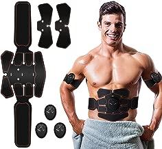 ROOTOK EMS Aparato de Entrenamiento, estimulación Muscular, electroestimulación Muscular, Entrenamiento Abdominal, estimulador Muscular, masajeador de Abdomen, Desarrollo Muscular y Quema de Grasas