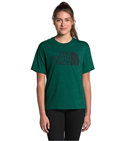 The North Face Half Dome Short Sleeve Tri-Blend Tee (Evergreen Heather) Women