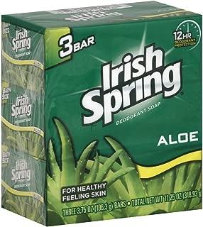 Irish Spring Deodorant Soap, Aloe, 3.75 oz  (Pack of 3)
