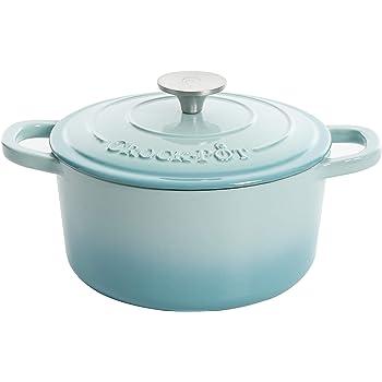 Crock Pot Aqua Blue 3 Qt Enameled, 3-Quart