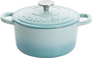 Crock-Pot Artisan Round Enameled Cast Iron Dutch Oven, 3-Quart, Aqua