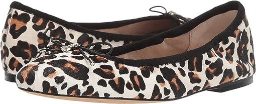 White/Brown Pop Leopard Brahma Hair