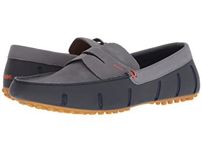 SWIMS Penny Lux Loafer Driver (Navy/Gray/Gum) Men