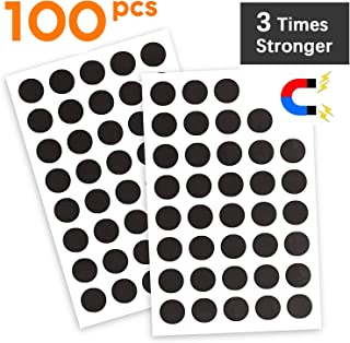Flexible Magnet Round with Adhesive by House Again – Perfect for Crafts & DIY Projects, Hanging & Organizing Light Objects at Home Office or Warehouse, 100Pcs