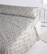 /3/Pezzi/ /in Microfibra Traspirante 90/_x/_190//200 cm Arancione//Cioccolato /Set di Lenzuola Lisce/ /Colori combinati/ Cabetex Home -/