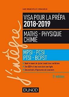 Visa pour la prépa Maths-Physique-Chimie : MPSI-PCSI-PTSI-BCPST