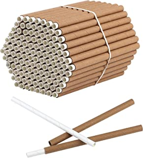 Elcoho 120 Sets of Outdoors Mason Bee Nesting Tube Refill Kit Includes 120 Pieces 6-Inch Replacement Tubes & 120 Pieces Re...