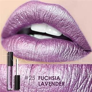 DZT1968 1PC/6g lasting FOCALLURE New Lipstick Cosmetics Women Sexy Lips Metallic Lip Gloss (C)