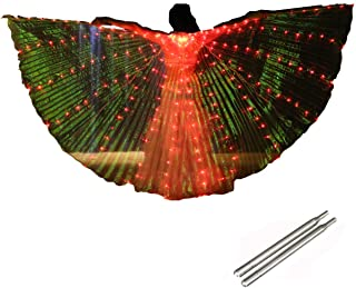 Premier Upgrade FCC Certificated LED Isis Wings Carnival Halloween Shows Led Belly Dance Isis Wings Costume Cloak