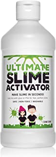 Ultimate Science Borax Slime Activator-16oz Solution. Works with All Glue Types- Elmer's, PVA, White, Clear, Glitter. Better Than Contact Solution or Laundry Detergent.