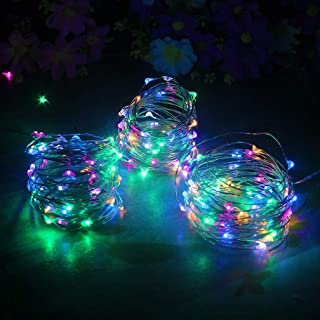 mankinlu 3 PCS Fairy Lights Battery Operated String Light Led Moon Lights 16.5ft/5m 50 Led Multi-colored Firefly Lights Starry String Light for DIY Costume Wedding Easter Party Table Centerpiece Decor