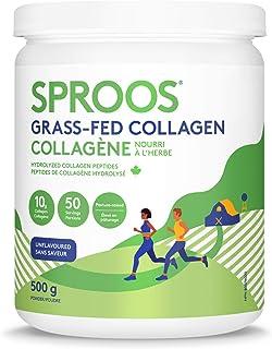 SPROOS Premium Grass-fed Collagen Peptide Powder | Pasture-Raised, Non-GMO | Large Tub, 500g 500 Gram
