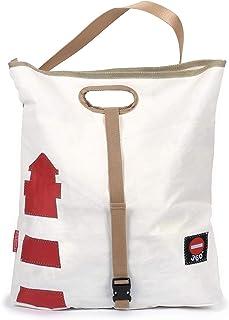 360° Taschenagentur Kramer Einkaufstasche Strandtasche Tender Leuchtturm recyceltes Segeltuch von 360 Grad