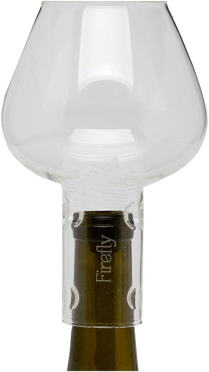 Firefly Wine Bottle Oil Lamp Flame Protector Glass Chimney Globe