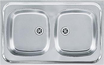 Franke 103.0205.573seda fregadero de cocina con doble de acero inoxidable Bowl de Franke Sara SXN, gris