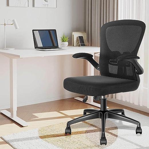 Bürostuhl Schreibtischstuhl – YONISEE Ergonomisch Burostuhl mit Armlehne Verstellbarer Lendenwirbelstütze, Höhenverstellun Wippfunktion Chefsessel…