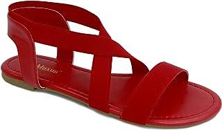 sandalias rojas altas bajas con tacon planas para fiestas para vestir comodas para la mujer de hoy todo de rojo