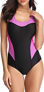 American Trends One Piece Swimsuits for Women Womens Bathing Suits Slimming Athletic Training Swimsuit