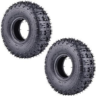 RUTU - Lote de 2 neumáticos de repuesto para motocultor de jardín, nieve, cortacésped, carretilla de camión de mano, caminar a la cesta ATV para niños