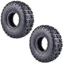 2 Pack of 4.10-4 410-4 4.10/3.50-4 Tires for Garden Rototiller Snow Blower Mowers Hand Truck Wheelbarrow Go Cart Kid ATV
