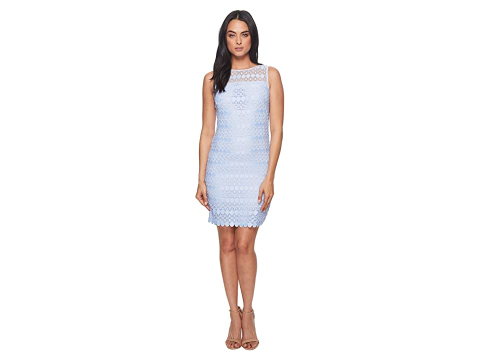 LAUREN Ralph Lauren Melia Circlet Geo Lace Dress (Soft Periwinkle) Women