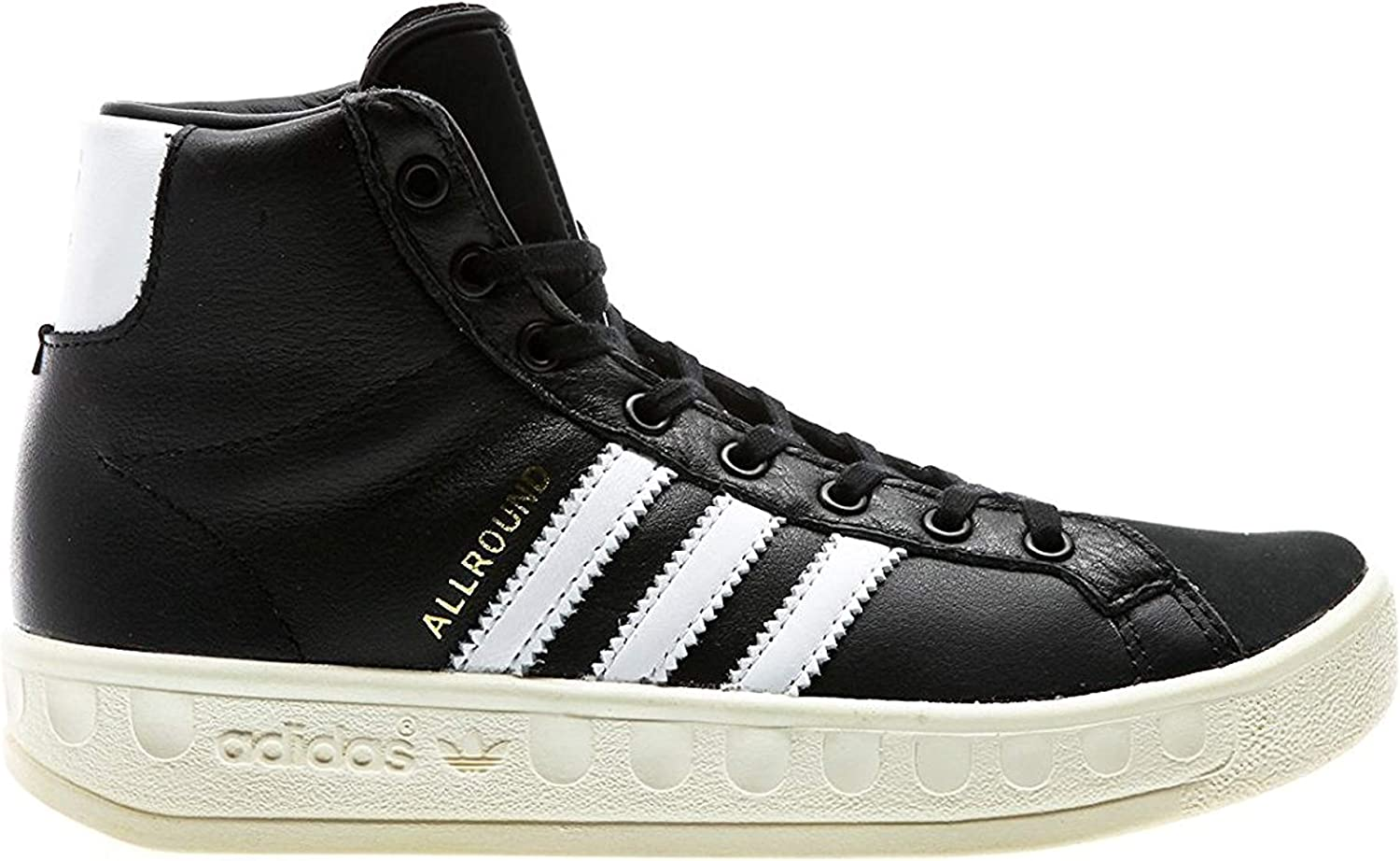Adidas Originals Women's Allround OG Core Black White   gold Metallic, 7.5 B(M) US