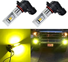 Alla Lighting 1500 Lumens High Power Seoul-CSP 12-SMD H10 9145 9040 LED Bulb Extremely Super Bright Gold Yellow LED Fog Light Lamp Bulb Replacement …
