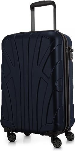 SUITLINE - Bagages Cabine à Main Valise Rigide, 55 cm, 34 Liter, Bleu foncé