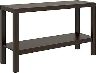 Parsons Narrow Living Room Entryway Sofa Console Storage Table With Bottom Under Storage Shelf, Dark Brown Espresso