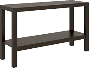 Parsons Narrow Living Room Entryway Sofa Console Storage Table With Bottom Under Storage Shelf, Dark Brown Espresso