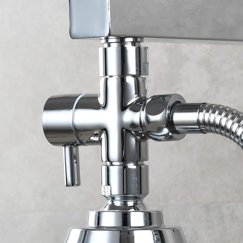 DSF007C CIENCIA Shower Arm Diverter Brass 3 Way Shower Valve G 1//2 Diverter Valve for Hand Shower Black Shower Parts
