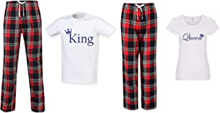 60 Second Makeover Limited King and Queen Couples Matching Pyjama Tartan Set Couples Twinning Family