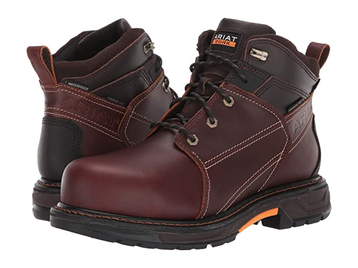 Ariat  6 WorkHog XT H2O Carbon Toe (Russet Brown) Mens Work Boots